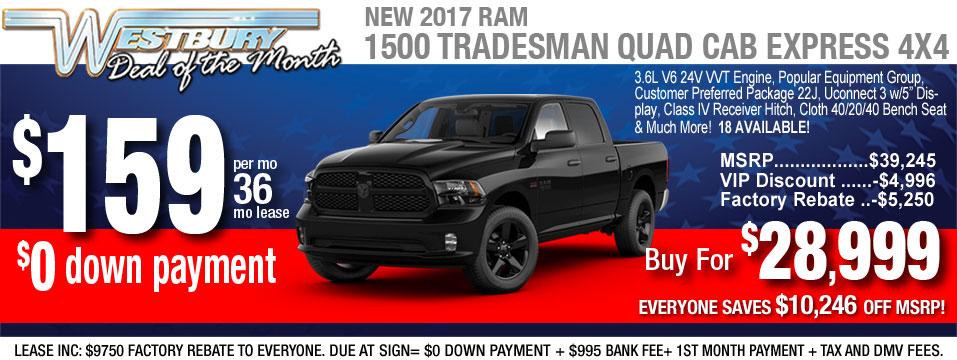 2017 ram 1500 quad cab