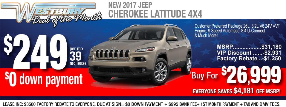 2018 cherokee lease deals