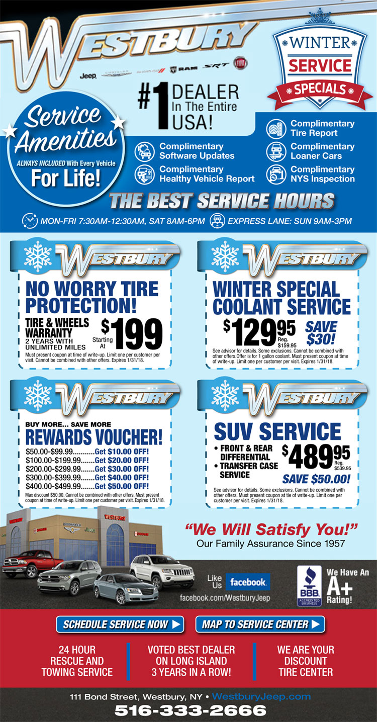 westbury service coupons