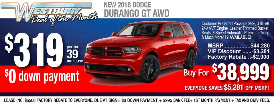New Dodge Durango GT