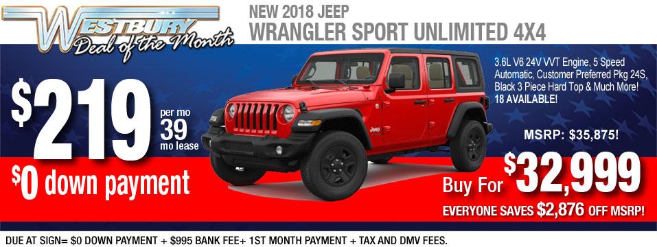 2018 Wrangler Sport Unlimited