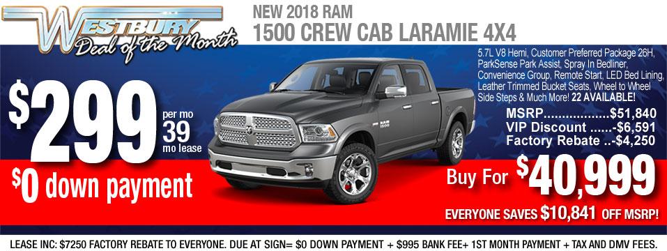 2018 Ram 1500 Crew Laramie