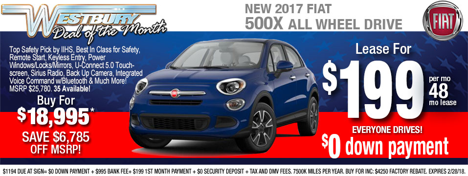 New Fiat Deals Long Island NY PreOwned Fiat Deals - Fiat 500 lease