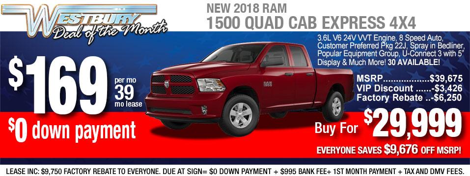 New Ram 1500 Quad Cab
