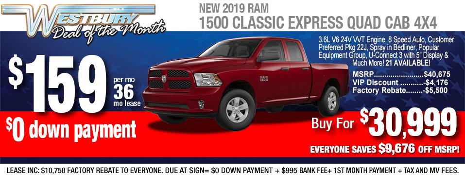 Ram Deals at Westbury Jeep Chrysler Dodge RAM