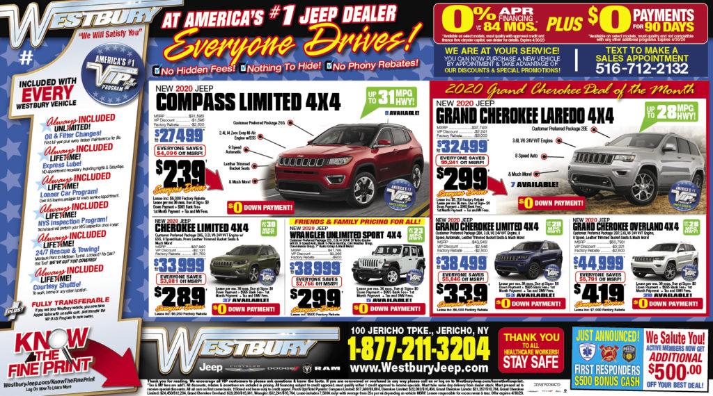 westbury jeep newspaper ad